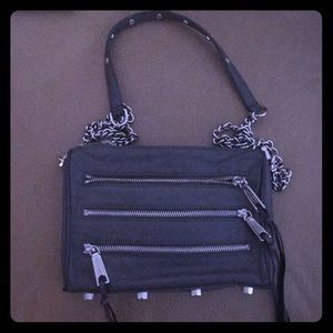 Rebecca Minkoff 5 mini zip cross body  handbag